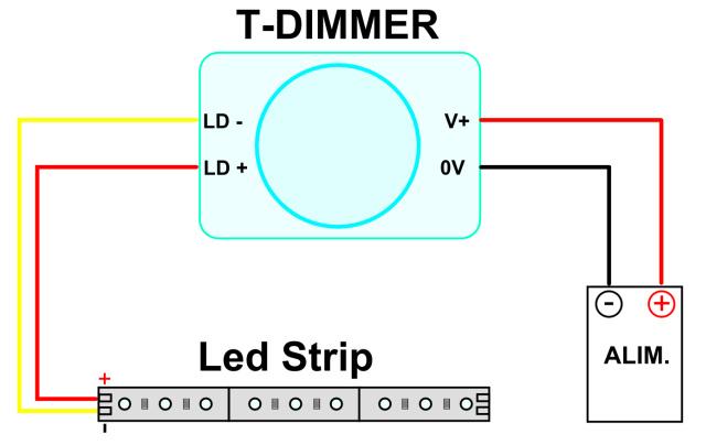 Schema Elettrico Dimmer Per Led : Schema elettrico per dimmer v